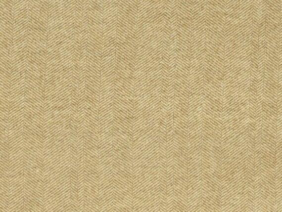 arran yellow wool, herringbone upholstery fabric