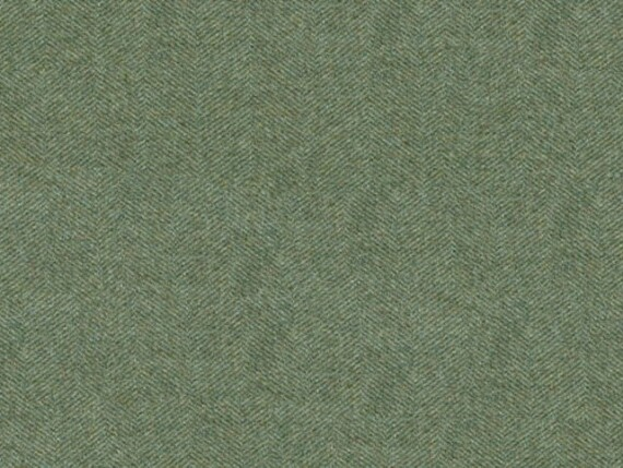 herringbone topez wool, herringbone upholstery fabric, green herringbone