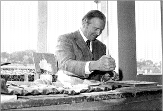 H.W. Wood - Wood Brothers Founder during a carving Demonstration