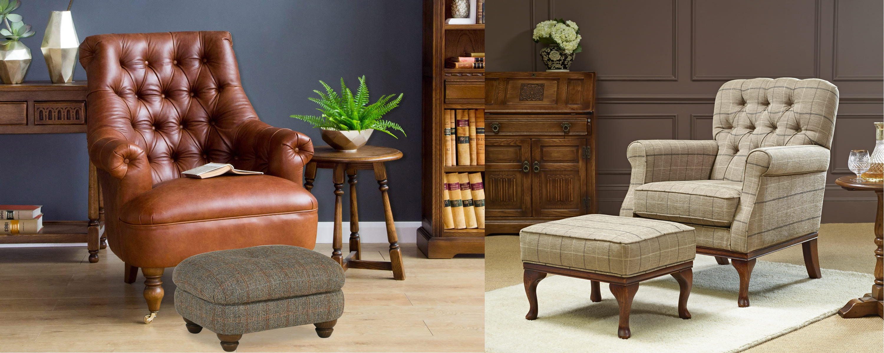 free footstool, free harris tweed footstool, mini footstool, footstool with fabric options