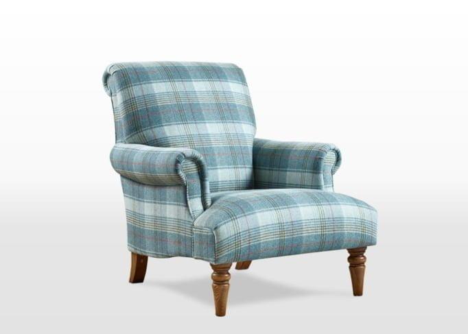 Moon Tartan Mint fabric, abraham moon armchairs, love wool, wool chair