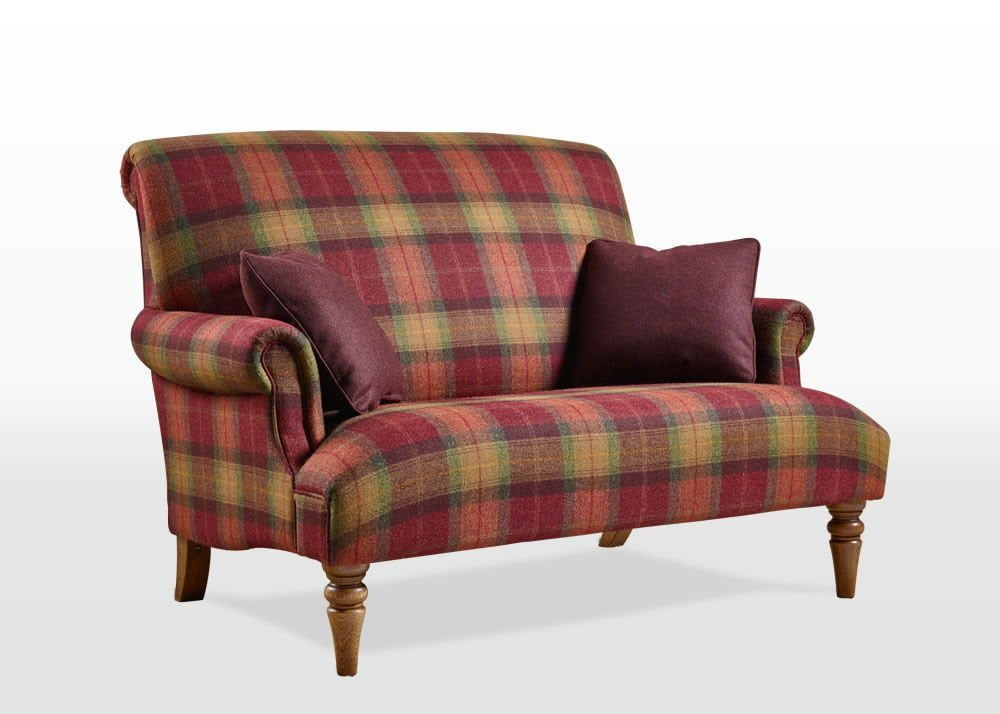 Red Check 2 Seater Sofa Conceptstructuresllc Com