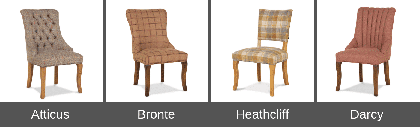 Wood Bros Upholstered Dining Chairs
