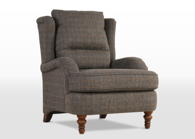 Wood Bros Bayford Armchair in Light Oak Traditional head on image, january furniture show