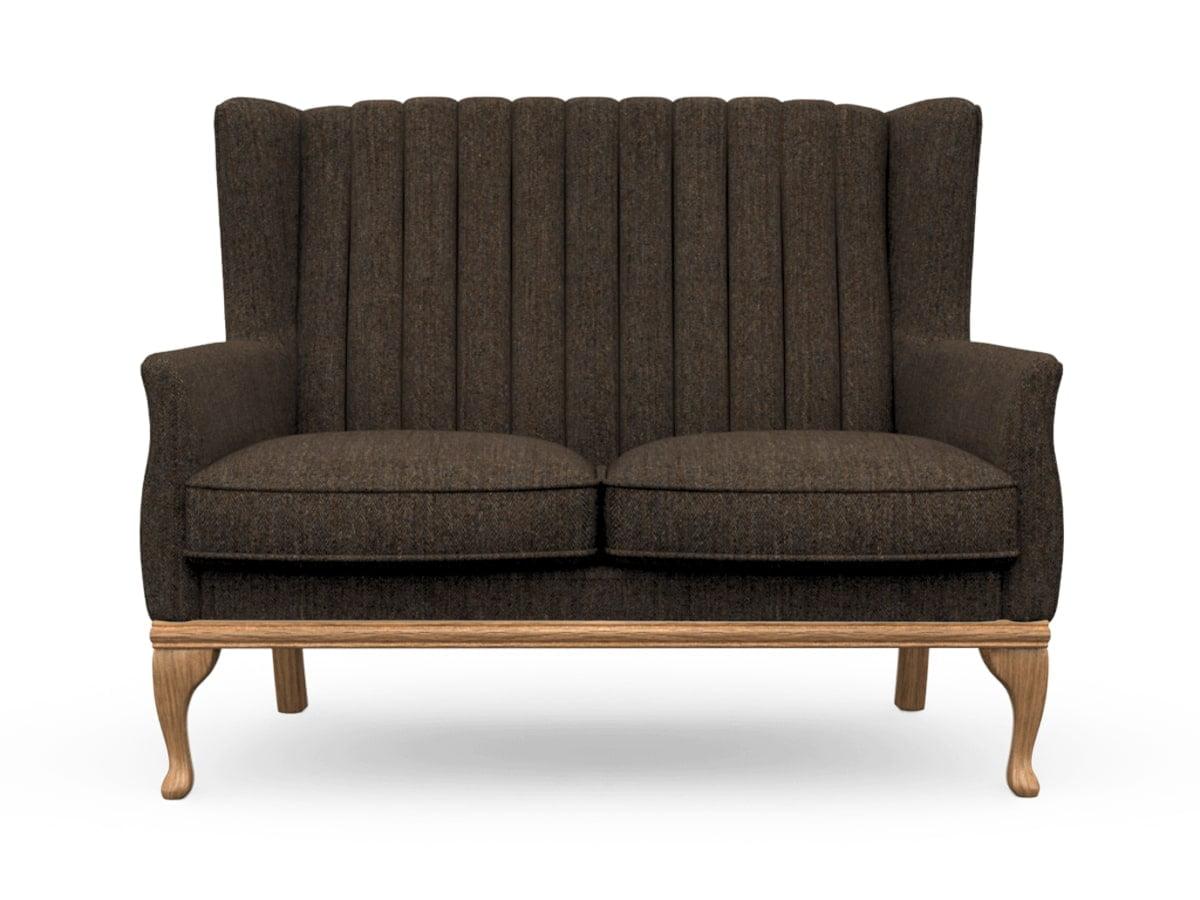 Harris Tweed Herringbone Forest, Blakeney 2 Compact Sofa in Harris Tweed