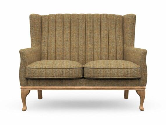 Harris Tweed Herringbone Moss, Blakeney 2 Compact Sofa in Harris Tweed