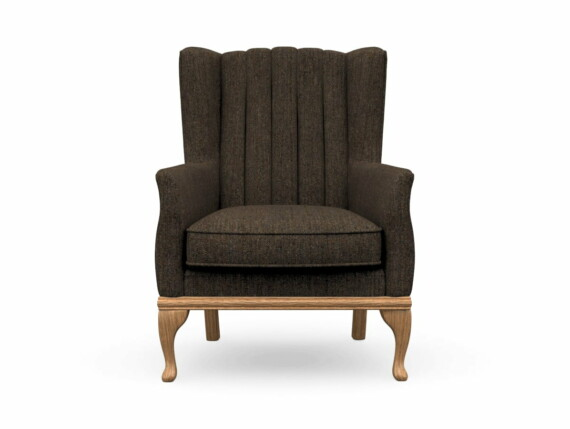 Harris Tweed Herringbone Forest, Blakeney Armchair in Harris Tweed