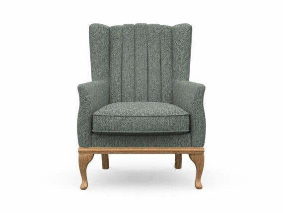 Harris Tweed Herringbone Slate, Blakeney Armchair in Harris Tweed