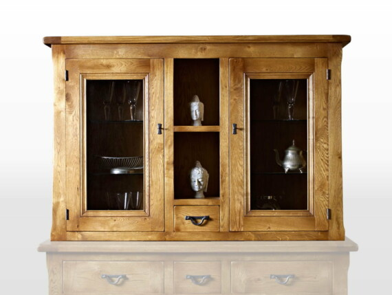Wood Bros Display Top in Flaxan Head On Image shown with optional sideboard
