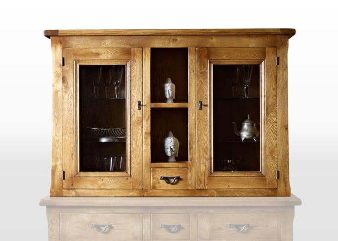 Wood Bros Display Top in Flaxan Head On Image shown with optional sideboard