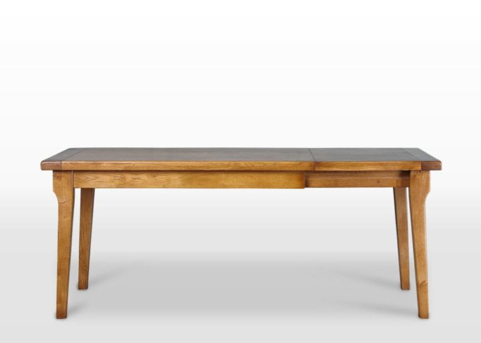 Wood Bros End Extending Dining Table in Flaxan Angled Image