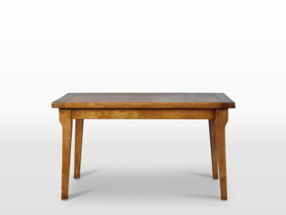 Wood Bros End Extending Dining Table in Flaxan Straight on Image