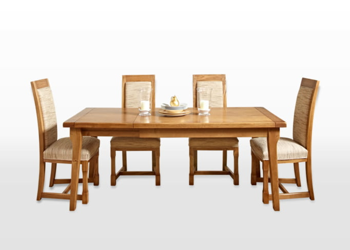 Wood Bros End Extending Dining Table in Flaxan Image