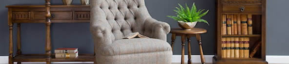 Wood Bros Harris Tweed collaboration, furniture upholstery fabric, harris tweed sofas