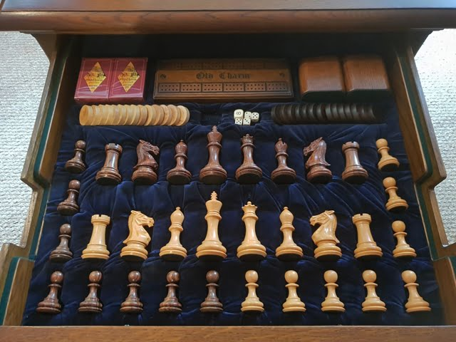 Discover Hidden Treasures Old Charm Games Table Drawer