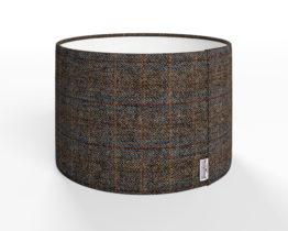 harris tweed lampshade, herringbone charcoal lampshade, dark grey herringbone lampshade, dark grey harris tweed lampshade