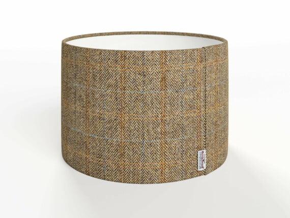 harris tweed lampshades, herringbone moss lampshade, beige herringbone lampshade, beige harris tweed lampshade