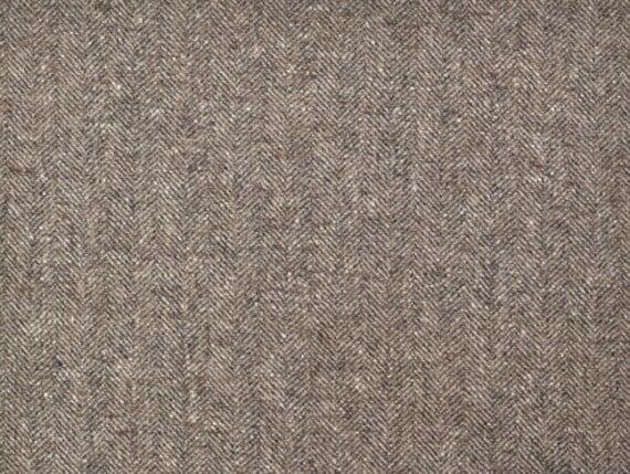 Fleck Mushroom Moon Furnishing pure wool fabric, herringbone upholstery fabric
