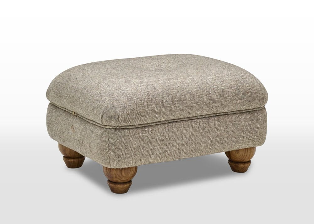 moon wool footstool, moon fabric upholstery