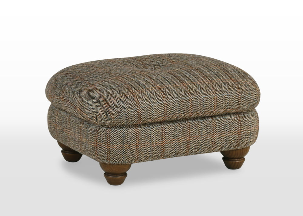 harris tweed armchairs, harris tweed footstool, FootStool Harris Tweed, furniture upholstery fabric