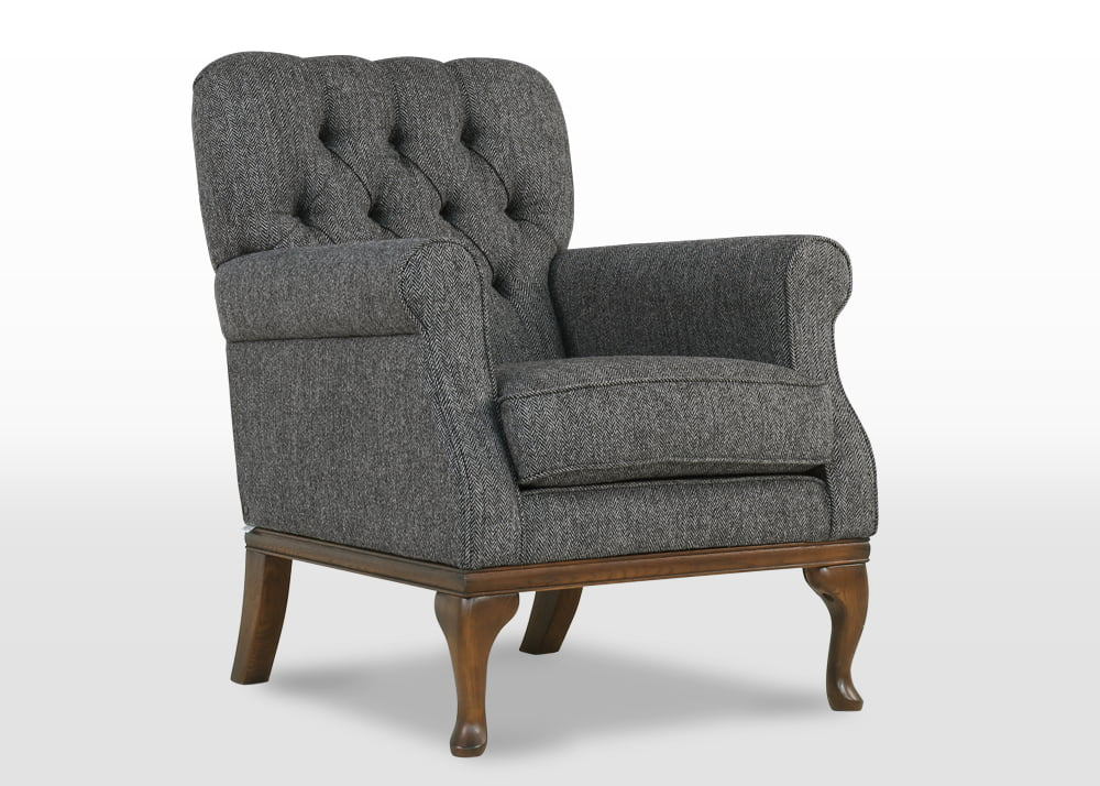 harris tweed armchairs, Burnham Armchair Harris Tweed, furniture upholstery fabric