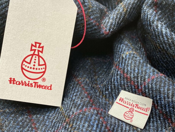 HARRIS TWEED AUTHORITY, HARRIS TWEED LABEL, GENUINE HARRIS TWEED, DOGTOOTH ORIGINAL, DENIM ORIGINAL