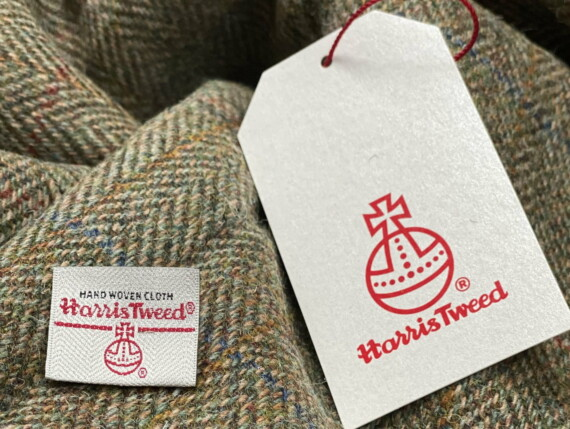 HARRIS TWEED AUTHORITY, HARRIS TWEED LABEL, GENUINE HARRIS TWEED, DOGTOOTH ORIGINAL, FERN ORGINAL