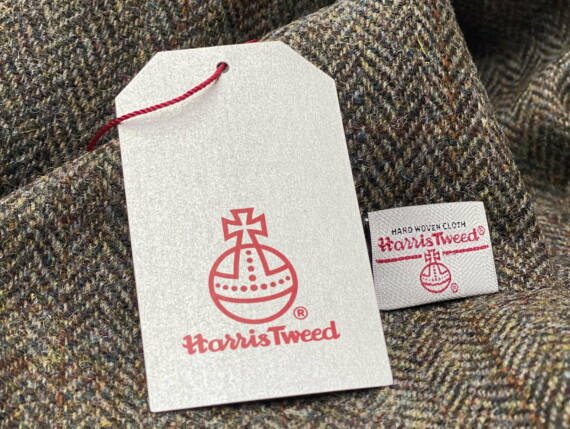 HARRIS TWEED AUTHORITY, HARRIS TWEED LABEL, GENUINE HARRIS TWEED, DOGTOOTH ORIGINAL, FOREST ORGINAL