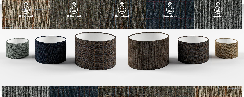 harris tweed lampshades, wood bros lampshade sizes
