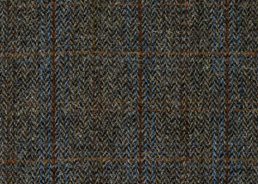 Harris Tweed Herringbone Charcoal Fabric Pattern, Harris Tweed Herringbone