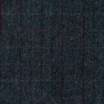 Harris Tweed navy fabric, heringbone upholstery fabric