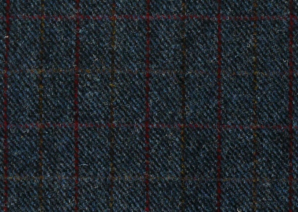 Harris Tweed Herringbone Denim Fabric Pattern