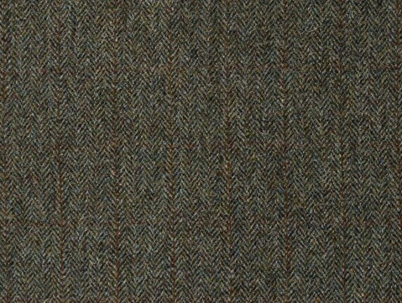 Harris Tweed forest fabric, herringbone upholstery fabric