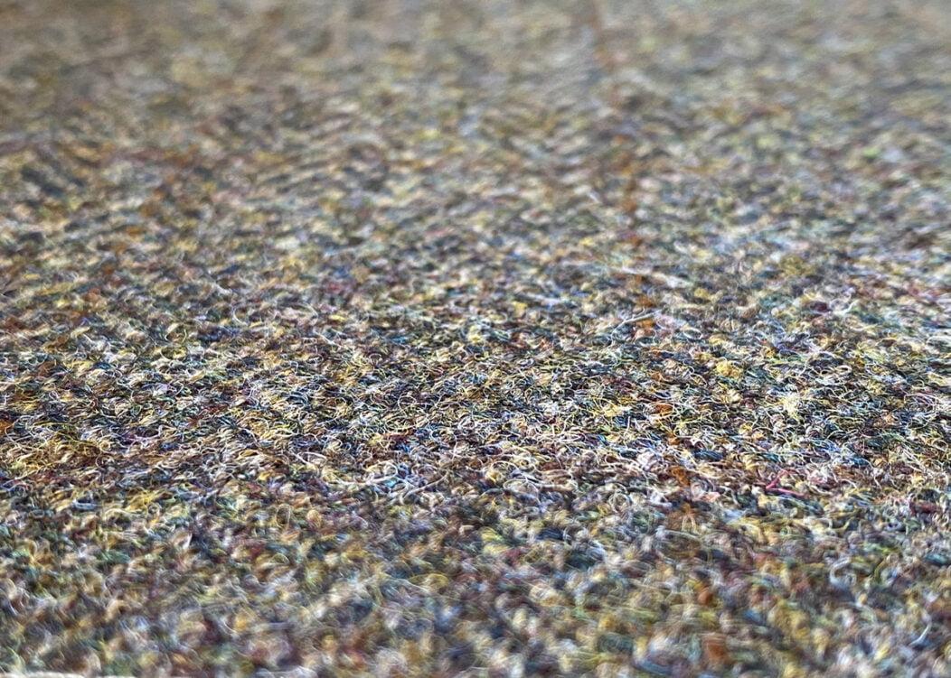 Harris Tweed Herringbone Forest Fabric Close-up, HARRIS TWEED PATTERN