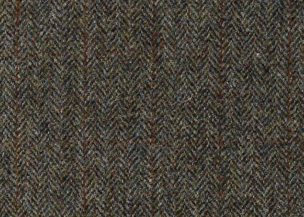 Harris Tweed Herringbone Forest Fabric Pattern