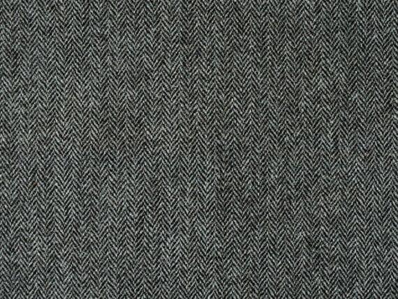 Harris Tweed grey fabric, herringbone upholstery fabric