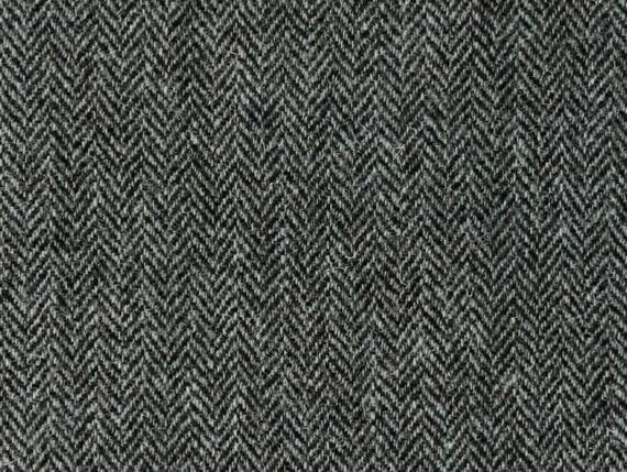 Harris Tweed Herringbone Slate Fabric Pattern
