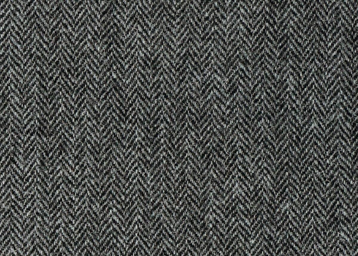 Harris Tweed Herringbone Slate Fabric Pattern