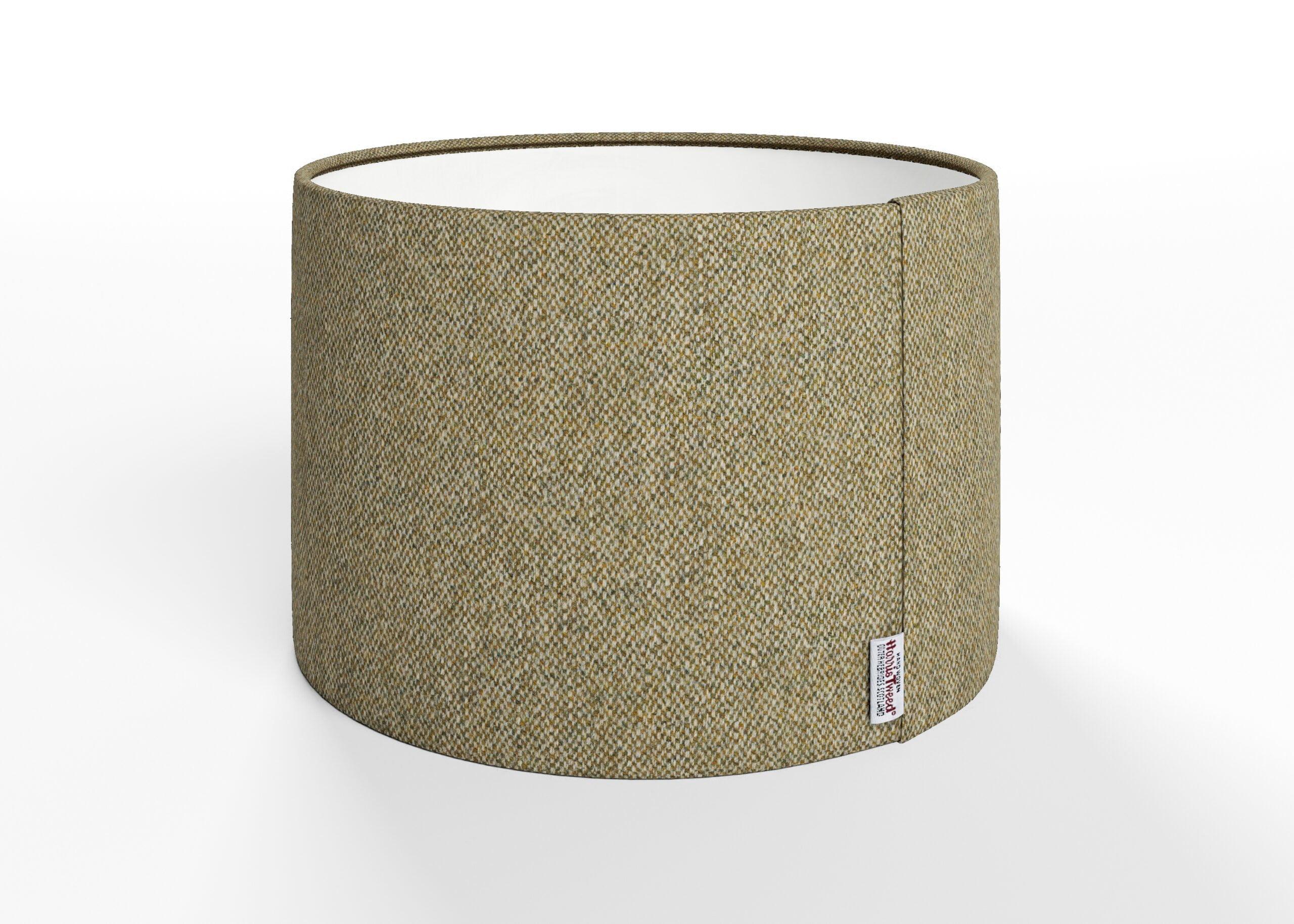 harris tweed lampshade, earth green lampshade