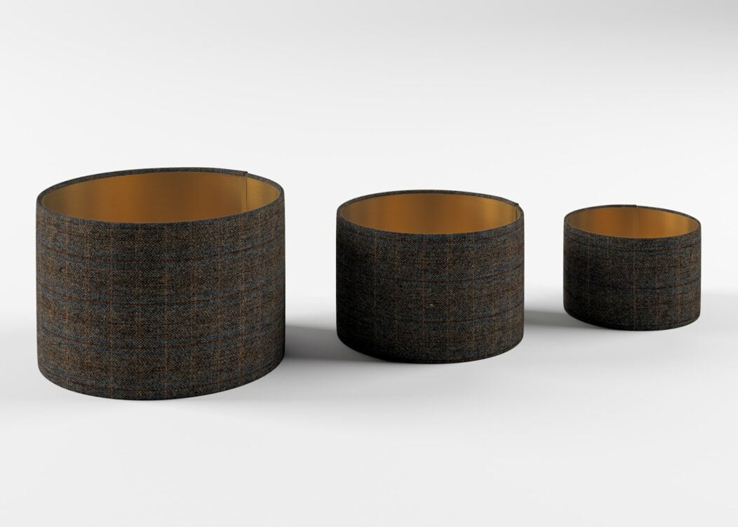3 Size Lampshades, Copper 3 Size Lampshades, Charcoal 3 Sizes