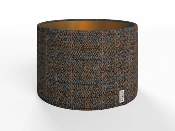 Harris Tweed Herringbone Charcoal Lamp Shade
