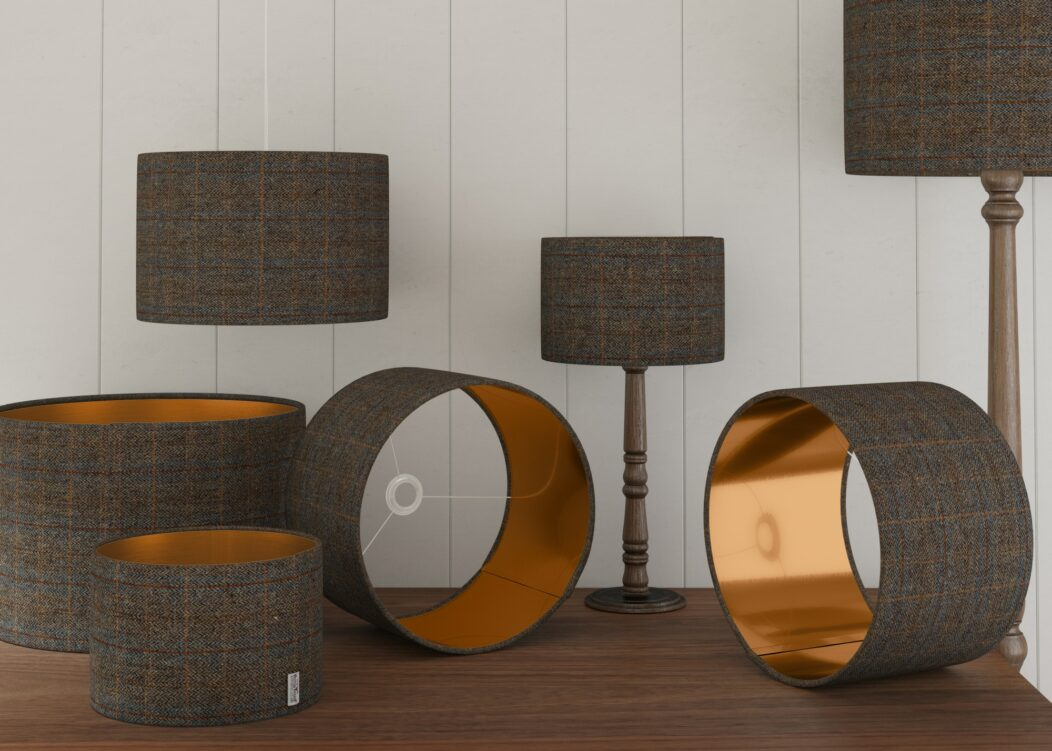 Lifestyle Charcoal Copper Lampshades