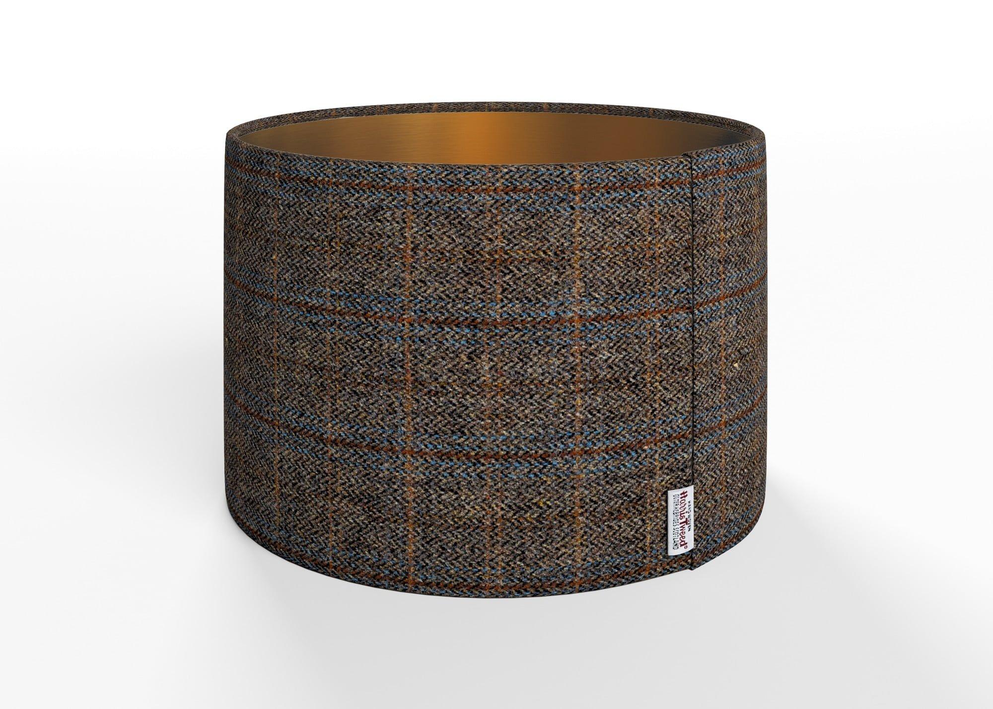 Harris Tweed Herringbone Charcoal Lamp Shade