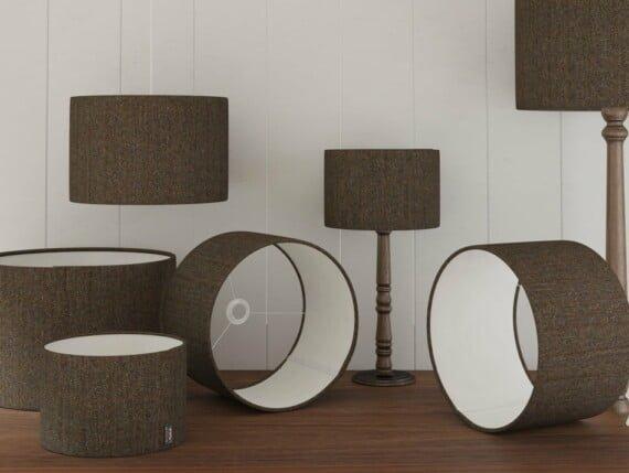 Harris Tweed Herringbone Forest lampshade