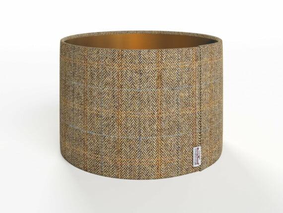 Herringbone Moss Lamp Shade - Copper