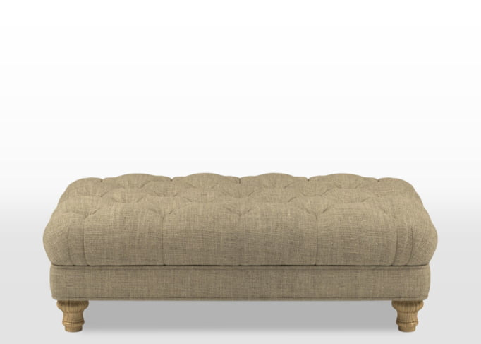 button footstool, upholstered coffee stool