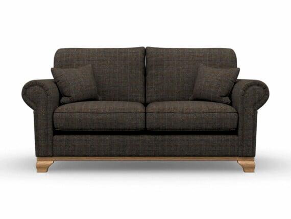 Harris Tweed Herringbone Charcoal, Lavenham Medium Sofa in Harris Tweed