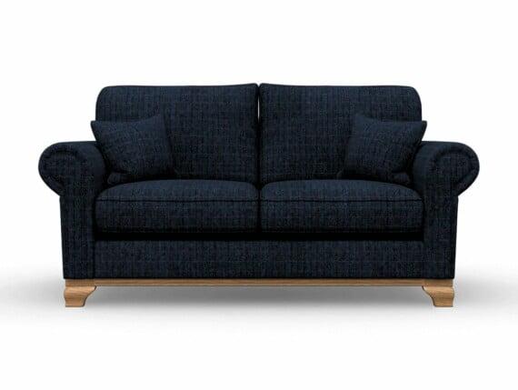 Harris Tweed Herringbone Denim, Lavenham Medium Sofa in Harris Tweed