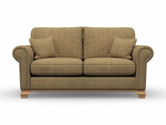 Harris Tweed Herringbone Moss, Lavenham Medium Sofa in Harris Tweed
