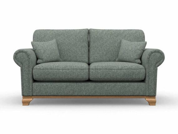 Harris Tweed Herringbone Slate, Lavenham Medium Sofa in Harris Tweed